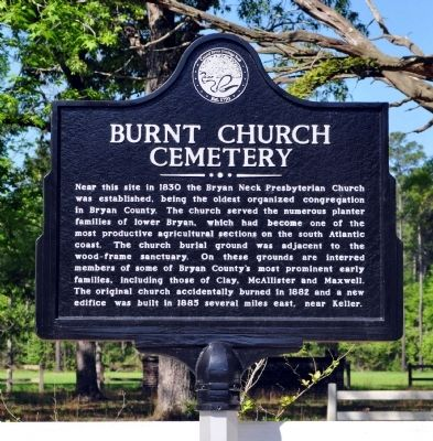 Burnt Church Cemetery Marker image. Click for full size.