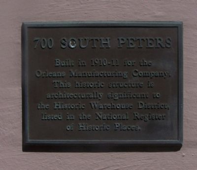 700 South Peters Marker image. Click for full size.