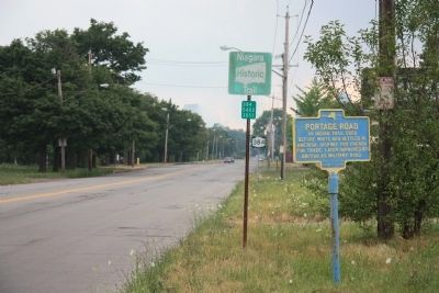 Portage Road Marker image. Click for full size.
