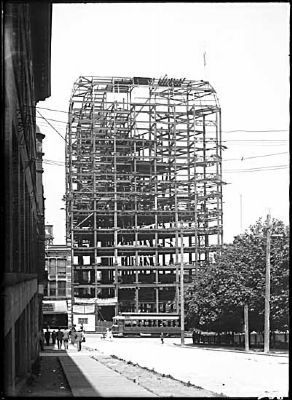 Dominion Building under construction (looking northeast up Hamilton Street) image. Click for full size.