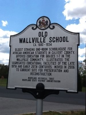 Old Wallville School Marker image. Click for full size.
