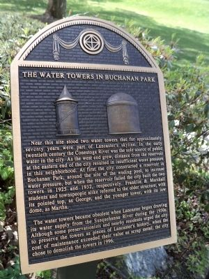 The Water Towers in Buchanan Park Marker image. Click for full size.