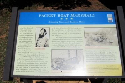 Packet Boat <i>Marshall</i> CWT Marker image. Click for full size.