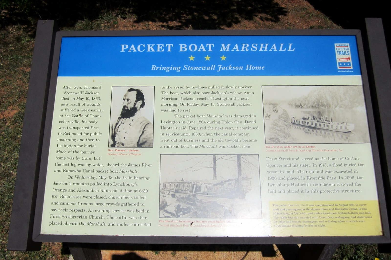 Packet Boat <i>Marshall</i> CWT Marker