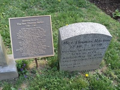 The Rev. Thomas Barton Marker and Gravestone image. Click for full size.