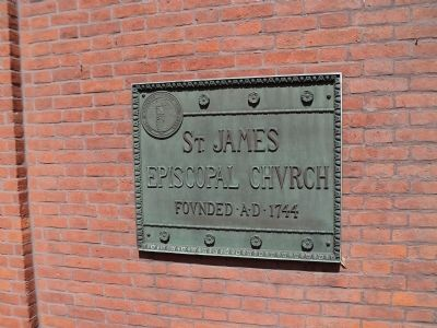 Plaque on the Church image. Click for full size.