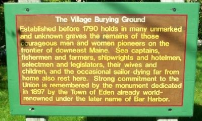 The Village Burying Ground Marker image. Click for full size.