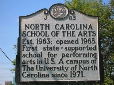 North Carolina School of the Arts Marker image. Click for full size.
