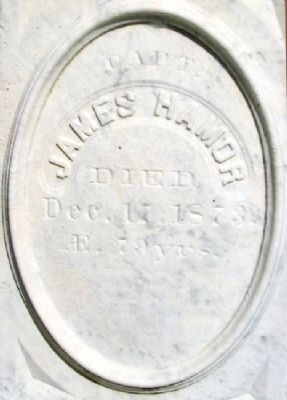 James Hamor Gravestone in Village Burying Ground image. Click for full size.