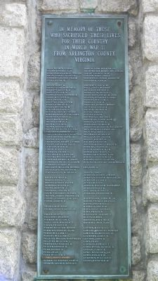 Arlington County War Memorial Marker image. Click for full size.