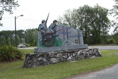 The Battle of Olustee Battlefield Park, seen along US 90 image. Click for full size.