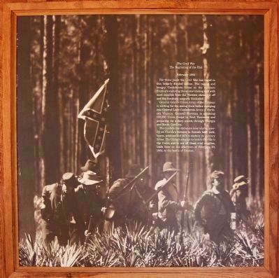 Battle of Ocean Pond (or The Battle of Olustee) seen inside the Visitor Center image. Click for full size.