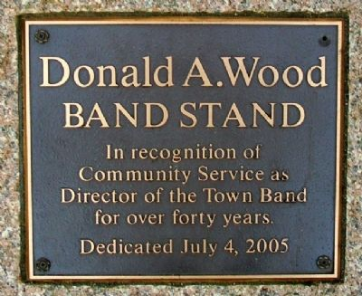 Donald A. Wood Band Stand Marker image. Click for full size.