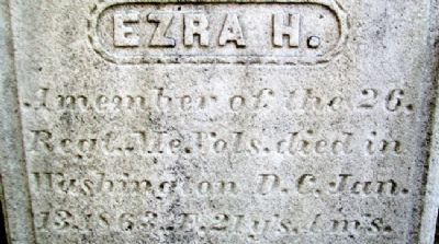 Ezra H. Young, Company E 26th Maine Infantry image. Click for full size.