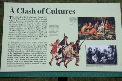 A Clash of Cultures Marker image. Click for full size.