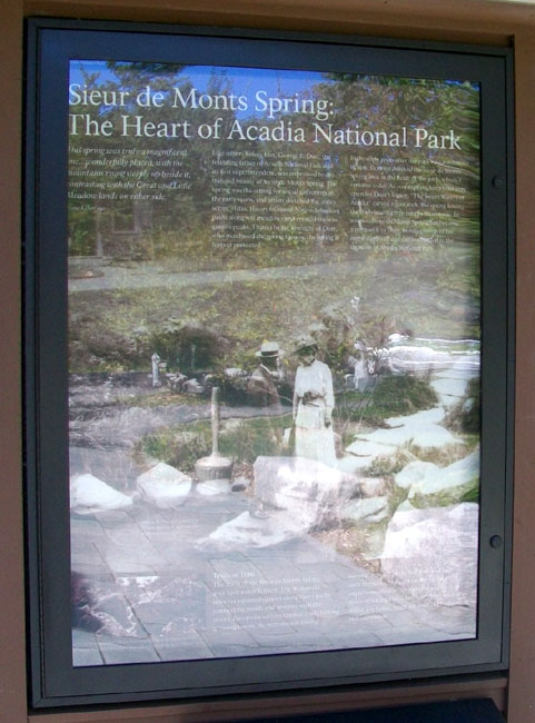 Sieur de Monts Spring: The Heart of Acadia National Park Marker