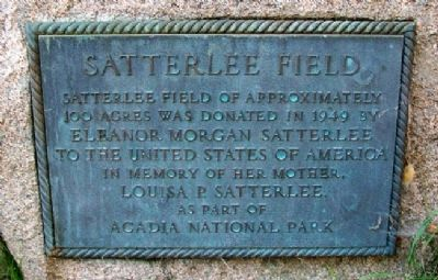 Satterlee Field Marker image. Click for full size.