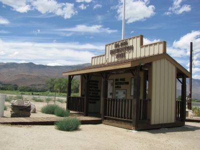 Big Pine Veterans Memorial Marker & Big Pine Recreation Area Kiosk image. Click for full size.