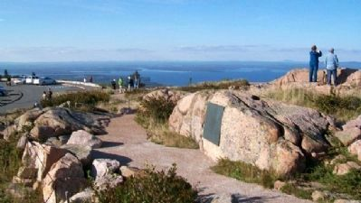 Stephen Tyng Mather Marker at Cadillac Mountain image. Click for full size.
