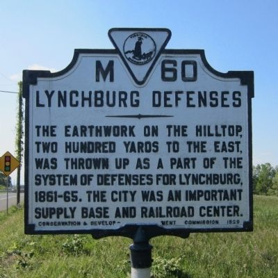 Lynchburg Defenses Marker image. Click for full size.