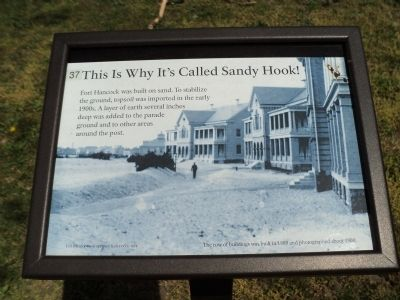 This Is Why It's Called Sandy Hook! Marker image. Click for full size.