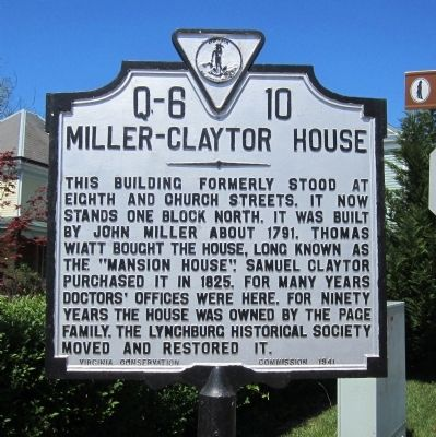 Miller-Claytor House Marker image. Click for full size.