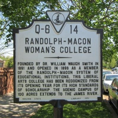 Randolph-Macon Woman's College Marker image. Click for full size.