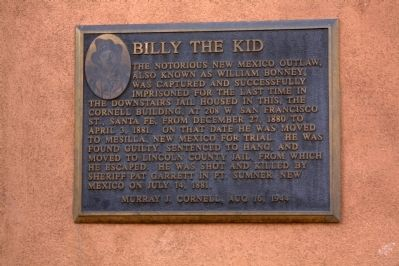 Billy The Kid Marker image. Click for full size.