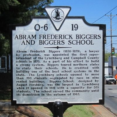 Abram Frederick Biggers and Biggers School Marker image. Click for full size.