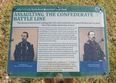 Assaulting the Confederate Battle Line Marker image. Click for full size.