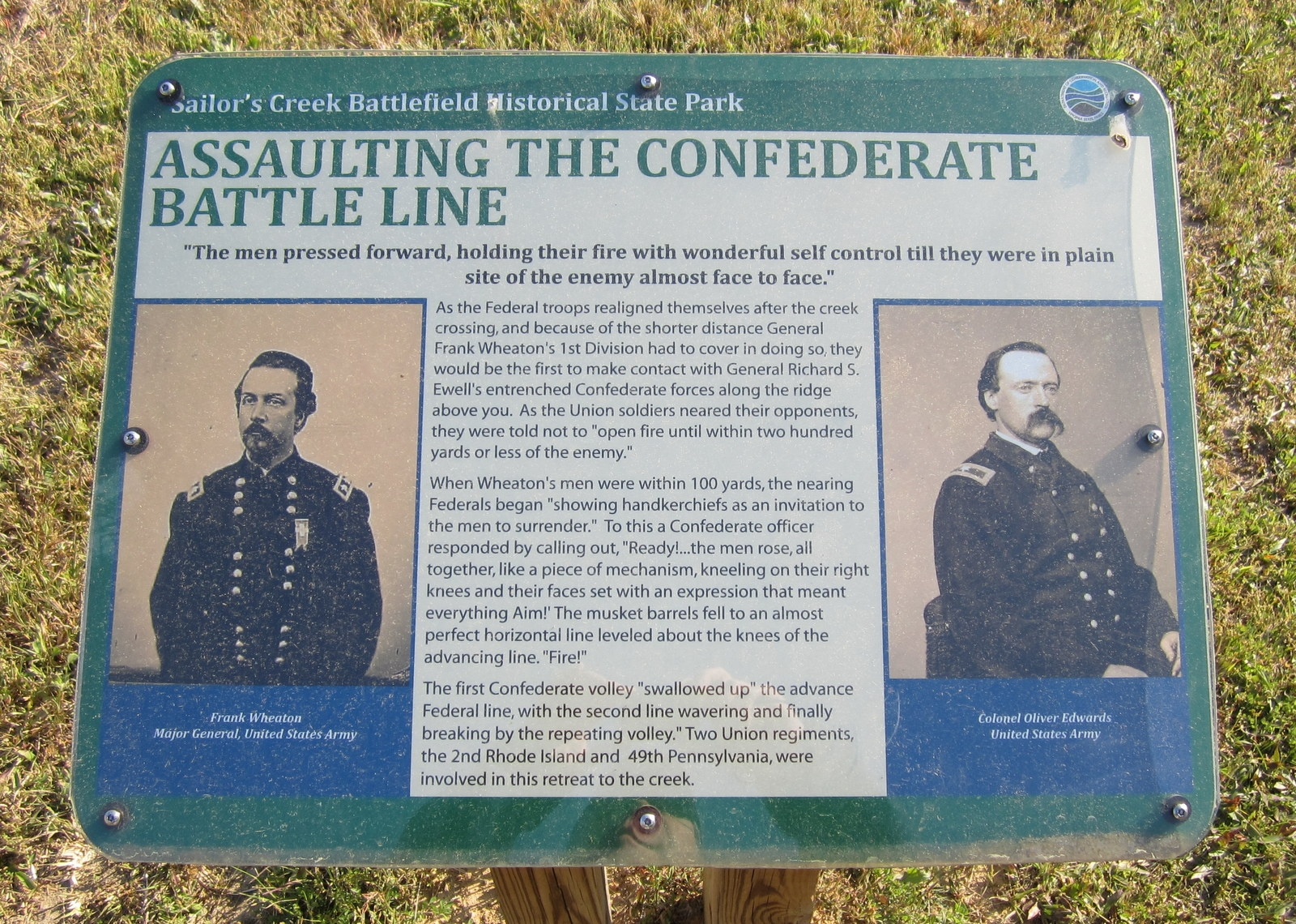 Assaulting the Confederate Battle Line Marker