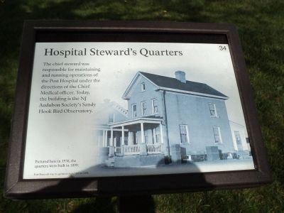 Hospital Steward's Quarters Marker image. Click for full size.