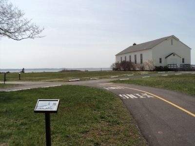 Post Chapel and Marker image. Click for full size.