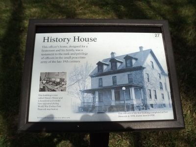 History House Marker image. Click for full size.