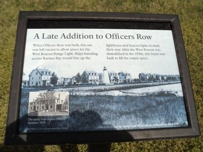 A Late Addition to Officers Row Marker image. Click for full size.