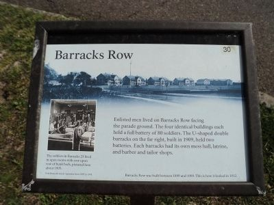 Barracks Row Marker image. Click for full size.