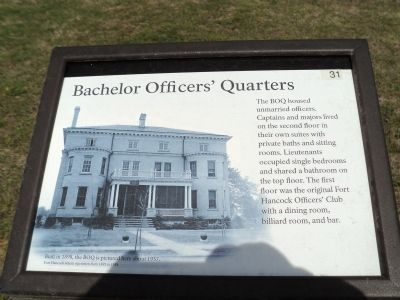 Bachelor Officers' Quarters Marker image. Click for full size.