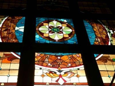 Science Hall Leaded Glass Window image. Click for full size.