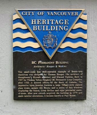 BC Permanent Building Marker image. Click for full size.