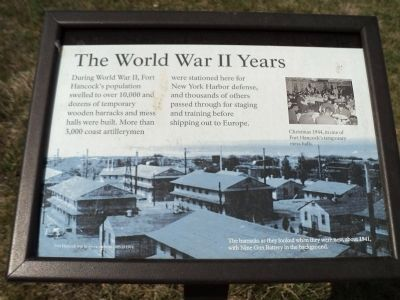 The World War II Years Marker image. Click for full size.