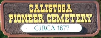 Pioneer Cemetery Sign image. Click for full size.