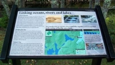 Linking oceans, rivers and lakes Marker image. Click for full size.