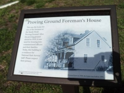 Proving Ground Foreman's House Marker image. Click for full size.