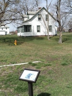 Marker at the Proving Ground Foreman's House image. Click for full size.