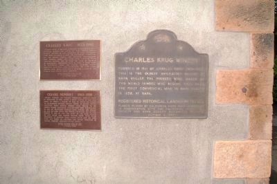 Cesare Mondavi, Charles Krug and the California Historic Landmark Markers image. Click for full size.
