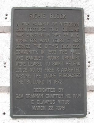 Richie Block Plaque image. Click for full size.