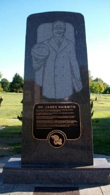 Dr. James Naismith Monument image. Click for full size.