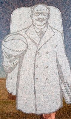 Dr. James Naismith Image on Monument image. Click for full size.