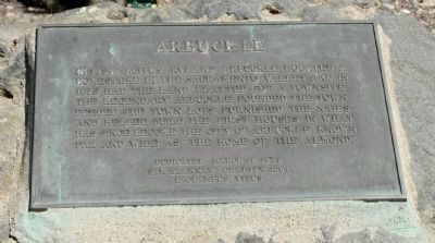 Arbuckle Marker image. Click for full size.