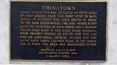 Napa's China Town Marker image. Click for full size.